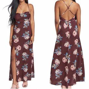 Show Me Your Mumu Floral Print Slit Maxi Dress